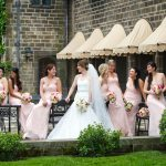 Bride with bridesmaids Wedding photography milford michigan photography