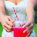 Bride with fruity drink Wedding photography milford michigan photography