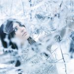 Lifestyle photography with model in the snow milford michigan photography