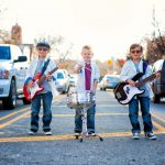 Lifestyle photography with children with guitars milford michigan photography